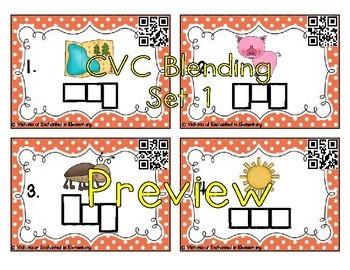 Phonemic Awareness Task Cards: CVC Bundle
