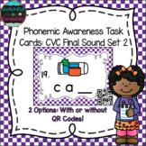 Phonemic Awareness Task Cards: CVC Final Sound Set 2