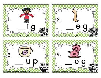 Phonemic Awareness Task Cards: CVC Initial Sound Set 2