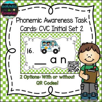 Phonemic Awareness Task Cards: CVC Initial Sound Set 2