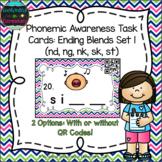 Phonemic Awareness Task Cards: Ending Blends Set 1 (nd, ng
