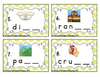 Phonemic Awareness Task Cards: Ending Digraphs Set 2
