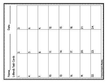 Phonemic Awareness Task Cards: L-blends Set 3