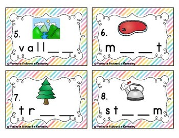 Phonemic Awareness Task Cards: Long E Vowel Teams: ea, ee, ie, ey Set 1
