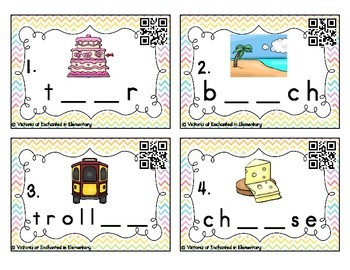 Phonemic Awareness Task Cards: Long E Vowel Teams: ea, ee, ie, ey Set 2