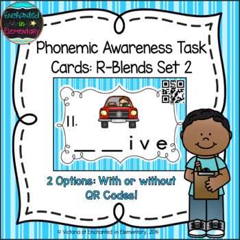 Phonemic Awareness Task Cards: R-blends Set 2