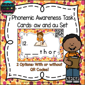 Phonemic Awareness Task Cards: au and aw Set