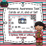 Phonemic Awareness Task Cards: er, ir, and ur Set