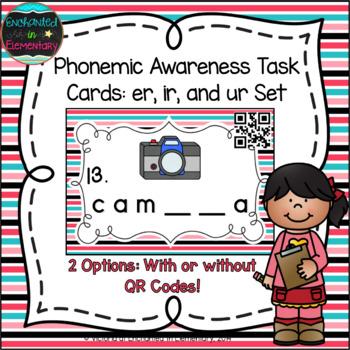 Phonemic Awareness Task Cards: er, ir, and ur Set