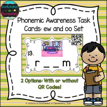 Phonemic Awareness Task Cards: ew and oo Set