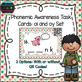 Phonemic Awareness Task Cards: oy and oi Set