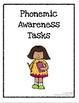 Phonemic Awareness Task Pack