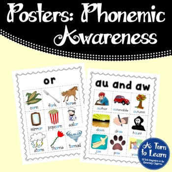 Phonemic Awareness Visual Posters for Tricky Sounds!