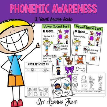 Phonemic Awareness Vowel Sound Sorts
