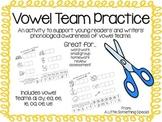 Phonemic Awareness- Vowel Team Cut and Paste!