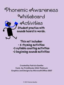 Phonemic Awareness Whiteboard Work