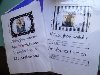 Phonemic Awareness Willoughby Wallaby Class Book Letter of the Week W