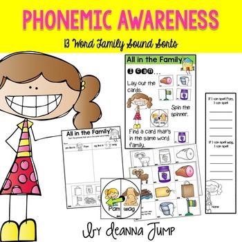 Phonemic Awareness Word Family Sorts