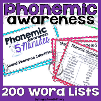 Phonemic Awareness Word Lists