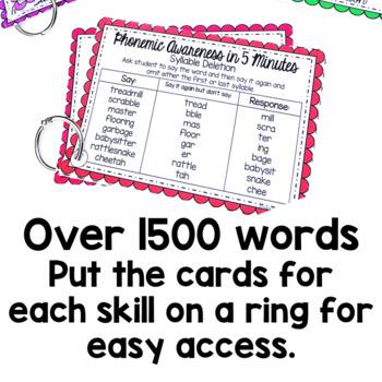 Phonemic Awareness Word Lists