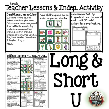 Phonemic Awareness: Word Work Activities {Long U Short U}