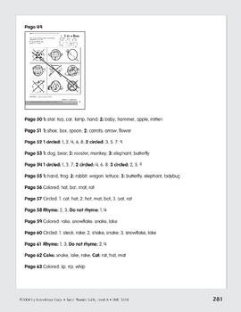 Phonemic Awareness: Words That Rhyme/Fat & Cat