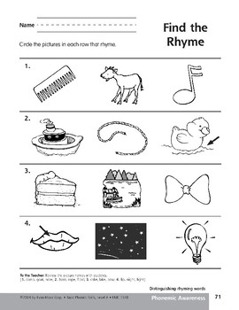 Phonemic Awareness: Words That Rhyme/Go & Goat
