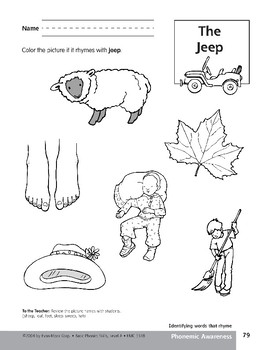 Phonemic Awareness: Words That Rhyme/Jeep