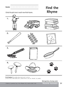 Phonemic Awareness: Words That Rhyme/Track