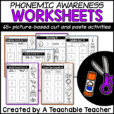 Phonemic Awareness Worksheets