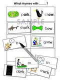 Phonemic Awareness Worksheets - Rhyming Words