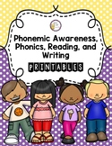 Phonemic Awareness, Phonics, Reading, and Writing Literacy Pack