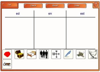 Phonemic Awareness and Phonics Smartboard Center Letter Name Short E