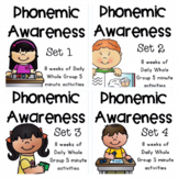 Phonemic Awareness for Little Learners All Year Bundle