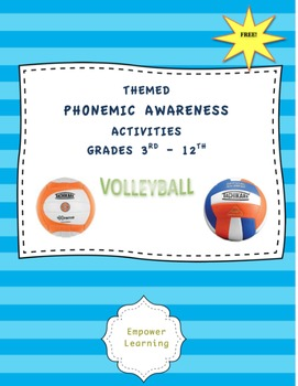 Phonemic Awareness & MORE for Upper Grades -- Theme: VOLLE