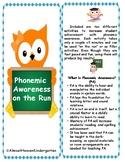 Phonemic Awareness on The Run With an Owl Theme
