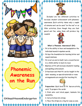 Phonemic Awareness on the Run with Kinder Kids
