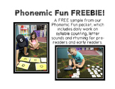 Phonemic Fun FREEBIE! (Syllable counting, rhyming, and beg
