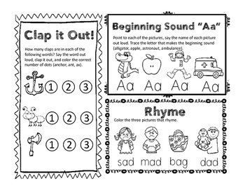 Phonemic Fun! (Syllable Counting, Letter Sounds, and Rhyming)