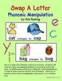 Phonemic Manipulation - Swap A Letter