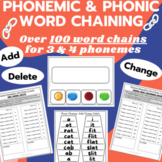 Phonemic & Phonic Word Ladders for Chaining of 3 & 4 phoneme words- SHORT VOWELS