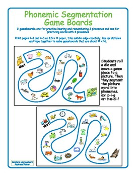 Phonemic Segmentation Game Boards