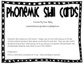 Phonemic Skill Cards