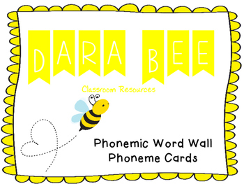 Phonemic Word Wall Cards