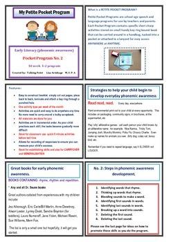 Phonemic awareness Early literacy Pocket Program No. 2 Gdes 1-3