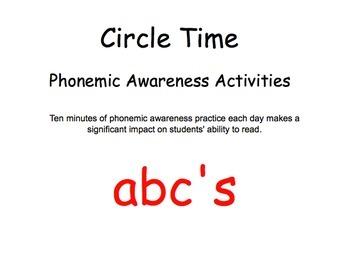 Phonemic awareness for Circle Time