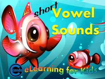 Short Vowel Sounds - Phonemic awareness - CVC word building game