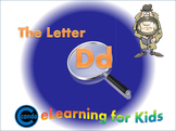 Phonics activity and learning game featuring the letter Dd