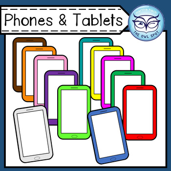Phones and Tablets Clip Art - for Personal and Commercial Use