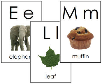 Phonetic Alphabet Cards - Toddler